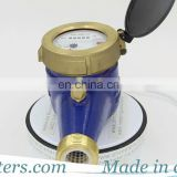 long life  multi jet pulse water meter with non-return valve