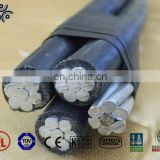 JKLGV rated voltage 1kv 1*120mm2 Aluminum conductor xlpe insulated overhead line/triplex aerial insulated cable