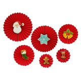 HOLAPARTY HPP220 Christmas Hanging Decoration Paper Fan Set