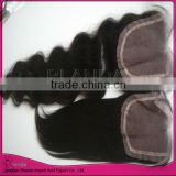CENTER PART natural color straight virgin brazilian hair lace closure 2013