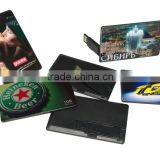 custom cheap Double printing Gift Credit Card USB /usb card /business card Flash Drive Stick with custom logo