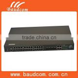 10/100/1000Mbps 2 SFP + 24*10/100M Fast Ethernet ports POE switch 24 Ports with 15.4W power output per port.