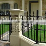 British design wrought iron fence for exterior building decor