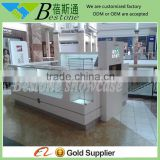 Accessories MDF white shopping mall display kiosk, shop counter design images                                                                         Quality Choice