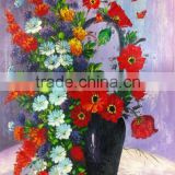 Professional Manufacturer decorative flowers wallpapers Red Flower in Vase paintings art on canvas bedroom decorating