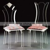 The Sweet Pink Acrylic Wedding Chair and Restaurant Dining Chair