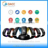 Christmas promotion smart bluetooth notification bracelet with vibration & pedometer