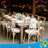 wholesale wood french white cross back chair                                                                         Quality Choice