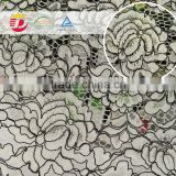 wholesale cheap high quality white cord chemical lace embroidery fabric for beautiful dress