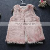 china cheap child vest make fake fur pink lovely coat free shipping
