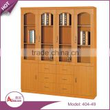 Wholesale file storage bookshelf custom cheap movable wood bookcase with glass door model