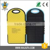 JF universal Solar battery charging treasure 5000/12000 mah waterproof dustproof shakeproof power bank