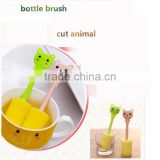 J228 animal fashion Cleaning Brushes spong baby bottle brush