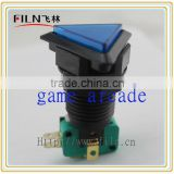 Plastic Arcade Game Triangle Blue Color momentary pushbutton switch for game machine