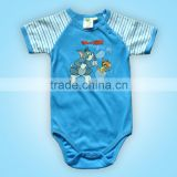 O-Neck Baby Striped short sleeve body baby names for boys