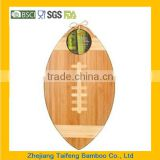 Get Ready for Game Day! Football Bamboo Cutting Board & Serving Tray