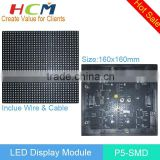 Hot promotion P5 SMD Indoor Full Color LED Module / 1/16 Scan / 1/8scan indoor led display module