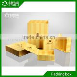 Handmade wood veneer chocolate gift folding boxes