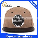 6 panel 65 polyester 35 cotton snapback cap                                                                         Quality Choice