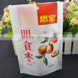 high quality Stand up zipper bag for Instant jujube / paper bag food grade PE coated snacks packaging