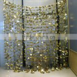 shiny metallic foil flower curtain