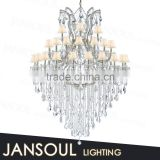 chinese lighting new products luxury interior decoration french metal crystal chandelier large pendant light