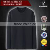 Brushed Cotton round neck long-sleeved for brand t-shirt men
