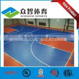 China best sale pp(polypropylene) basketball court sports flooring for school / community