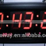 aluminum frame led wall clock with temperature and date
