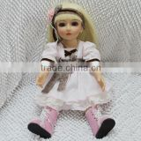 Beautiful Vinyl BJD 18inch girl doll with handmade clothes in silicon smile face SD doll