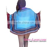 Hot Sale Wholesale Chiffon Ethnic Print Beach Cape Cover-up Hot Sexy Girl Bathing Suit