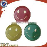 advertising round enamel metal smiley face badges
