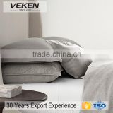VEKEN products 80% linen / 20% cotton bedding Set: 4 pcs (Cover, Sheet, Two Cases) natural flax