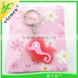 animal shape promotion gifts material soft pvc keychain