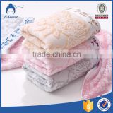 Wholesale custom hotel white cotton dobby border embroidery hand towels sets                                                                                                         Supplier's Choice