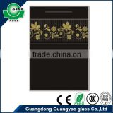 buy direct from china manufacture black kitchen cabinet glass door price