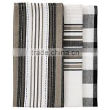 High Quality Kitchen Tea Towel Set Of 3pcs Black Printed Christmas Tea Towel                                                                         Quality Choice