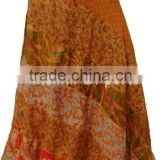 2112 Silk sari Long Panel Skirt Silk Saree Sari Vintage Magic Skirts Traditional Indian Apparel Silk and cotton modern skirts