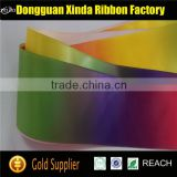 Colorful Printed Polyester Rainbow Satin Ribbon                                                                         Quality Choice