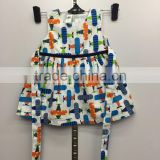 2016 new and hot baby clothing cotton fabric baby girl air plane dress