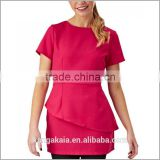 KANGAKAIA 2016 New Fashion workwear women beauty salon uniform tunic tops wholesale Beauty--SU991