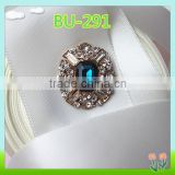 2016 newest design decorative blue crystal button for clothes