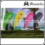 3m height custom logo flying banners/teardrop flags/outdoor advertising banners for events