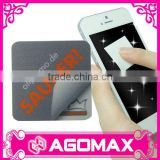 Custom microfiber sticky mobile phone screen cleaner