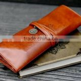City Twilight Creative Pencil bag Roll Leather Make Up Cosmetic Pen Case Pouch Purse Bag For School