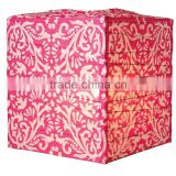new design Fuchsia Pink Block Printed Square Paper Lantern