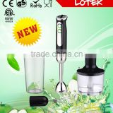 LED Light 2 speed stainless steel DC motor electric hand blender