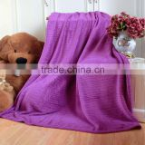 100 Polyester Coral Microfiber Fleece Blanket Throw with foil craft