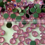 Hot sale Light rose perfet cut rose crystal hotfix rhinestones for heat motif transfer designs