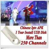 128M USB Chinese China HongKong Taiwan channels with 1 Year validity Iptv China apk account Free Shipping